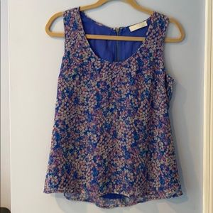 MM Couture Miss Me Flowery Silk Top